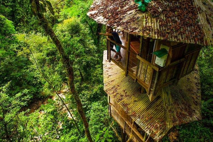 Top 7 awesome eco friendly treehouse hotels javi 39 s for Tree house costa rica