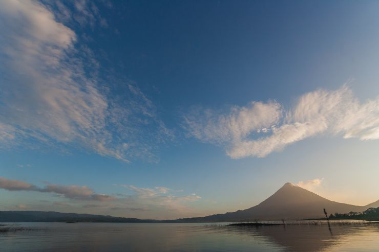 Amazing Arenal Volcano in the early morning