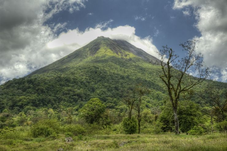 View of Arenal Volcano from Arenal Volcano National Park