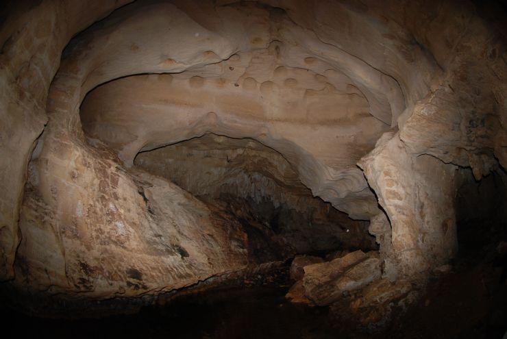 Beautiful rock formation inside Venado Caves, Alajuela