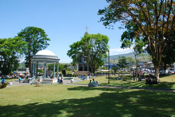 Main Park with church in Ciudad Quesada