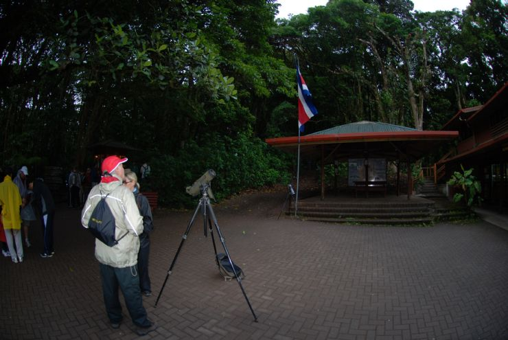 Getting ready for a hike into Monteverde Cloud Forest Reserve