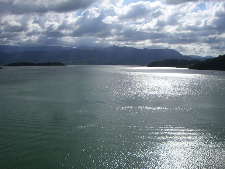 Arenal Lake covering the former city of Arenal