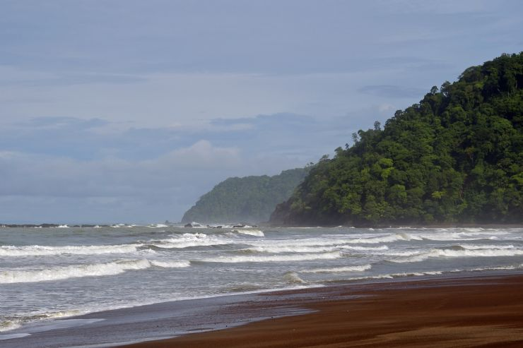 Jaco beach to the north