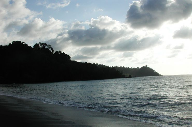 Dusk at Playa San Josecito, South Drake Bay