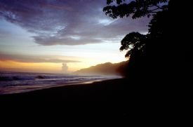 Corcovado National Park Sunset Silhouette
