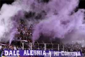 Saprisista fans at the stadium winter 2011