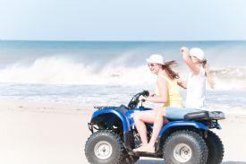 Having fun in a ATV at Manuel Antonio - Manuel Antonio, North Puntarenas