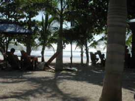 Relaxing at Playa Avallana Beachfront Bar - Playa Avellana, Guanacaste