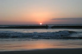 Sunset surfing in front of Lolas at Playa Avellana - Playa Avellana, Guanacaste
