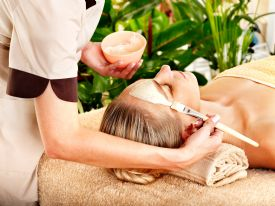 Getting a facial at a Manuel Antonio resort & spa - Manuel Antonio, North Puntarenas
