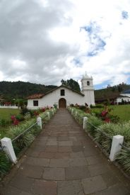 Nice fish eye view in front of Orosi Church - Orosi, Cartago