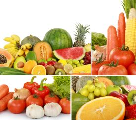 Vegetables and fruits tipical from Costa Rica