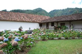 Beautiful gardens next to Orosi Church - Orosi, Cartago