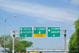 Guadalupe signs on highway, San Jose - Guadalupe, San Jose