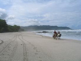 Horseback riding on the beach in Mal Pais - Mal Pais, North Puntarenas