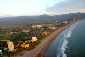 Beautiful Jaco Beach from the sky