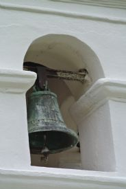 Main old bell in Orosi Church - Orosi, Cartago
