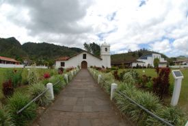 Main entrance on a beautiful day in Orosi Church - Orosi, Cartago
