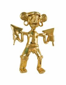 Pre Columbian Gold Figure at the Gold Museum