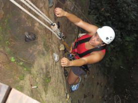Rock climbing at Adventure Tours - Rinc�n de la Vieja National Park, Guanacaste