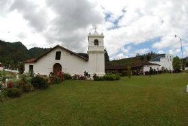 Beautiful side view of Orosi Church and museum - Orosi, Cartago