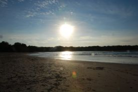 Sunrise over the estuary at Playa Langosta - Playa Langosta, Guanacaste