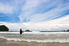Surfing at Playita in Manuel Antonio - Manuel Antonio, North Puntarenas