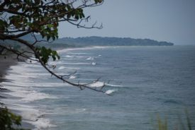 Waves rolling in at Playa Hermosa - Playa Hermosa, North Puntarenas