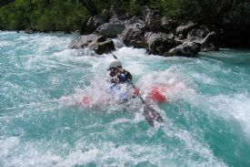 Getting in deep white water kayaking on the Reventaz�n River - Turrialba, Cartago