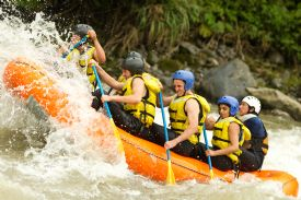 White Water Rafting on the Rio Naranjo with rapids - Manuel Antonio, North Puntarenas