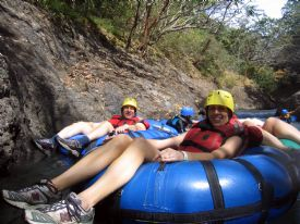 Having fun tubing on the Rio Negro - Rinc�n de la Vieja National Park, Guanacaste
