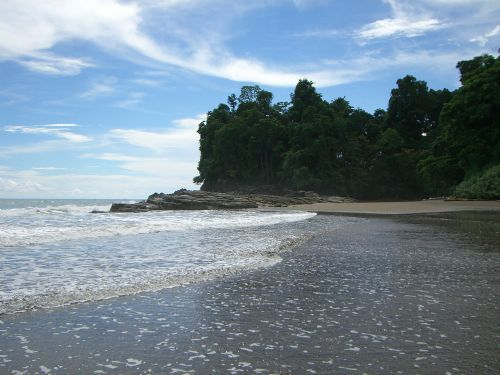 Beautiful Beach at Entrance to Ballena National Marine Park