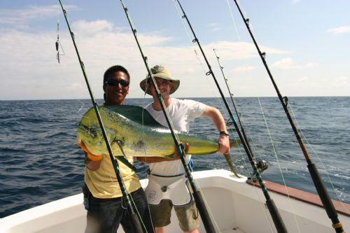 Catching a Dorado in Costa Rica