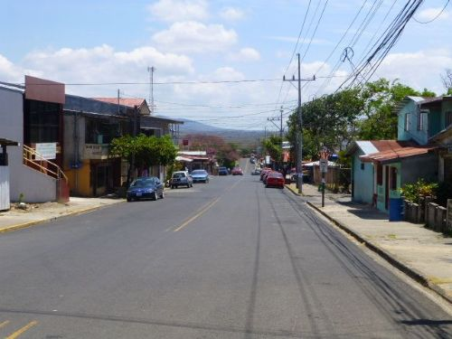 Main street in La Cruz, Guanacaste