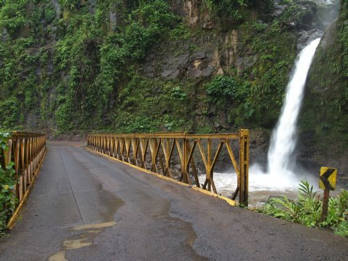 Bridge over one of La Paz Waterfalls