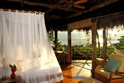 Sunrise from Lapa Rios Ecolodge Room