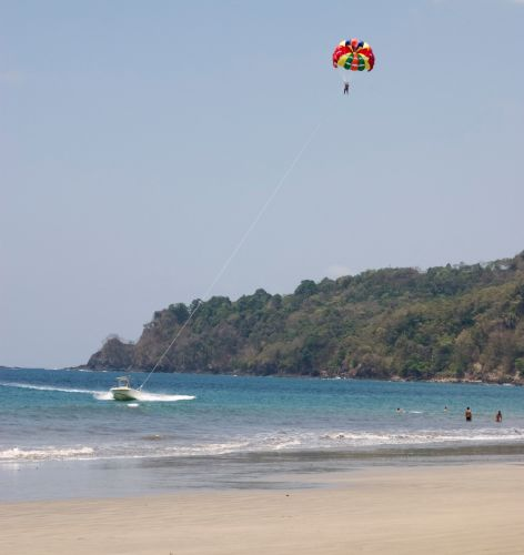 Parasailing off of Manuel Antonio