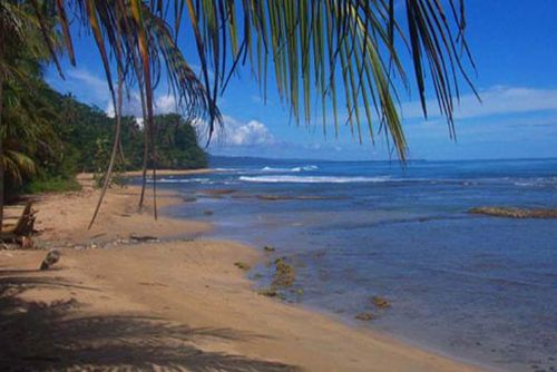 Beautiful beach at Playa Chiquita on the Caribbean in Costa Rica