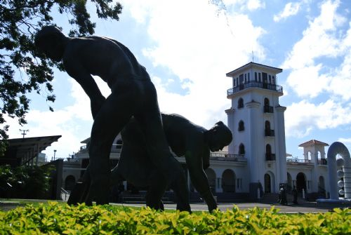 Statue at the back of Art Museum in La Sabana Park