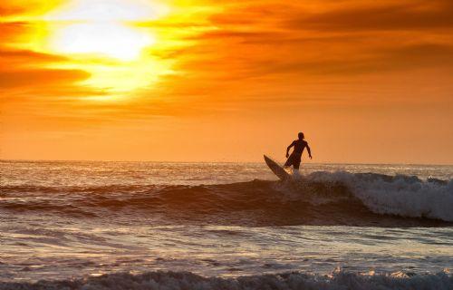 Surfing in Playa Grande