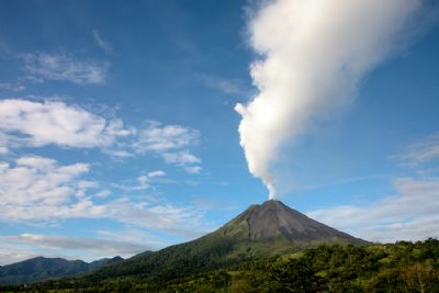 Arenal Volcano blowing smoke
