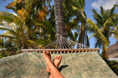 Kicking back on a hammock in Puerto Viejo
