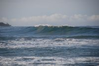 Check out the head high surf at Playa Langosta