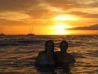 Beautiful Tamarindo Sunset Girls