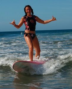 Riding a wave with Surf Diva