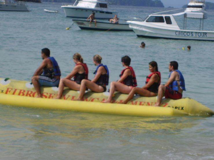 Banana Boat on Isla Tortuga