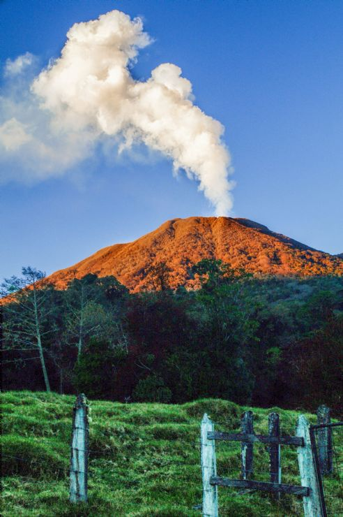 Turrialba Volcano Erupting