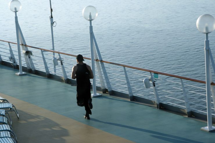 Running on a Cruise deck