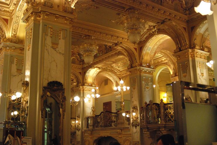 The beautiful Cafe New York in Budapest, Hungary